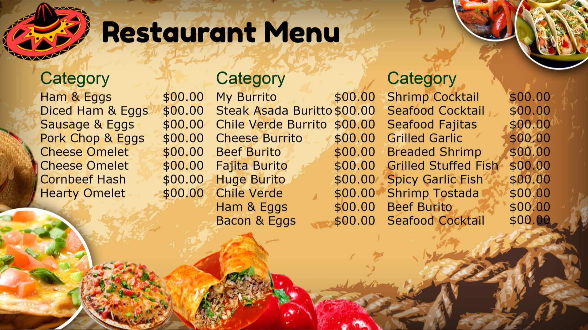 Mexican Restaurant Menu Template Inspirational Best S Of Mexican Restaurant Menu Template Blank