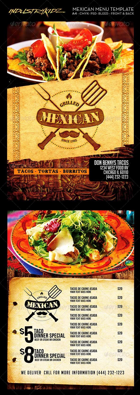 Mexican Restaurant Menu Template Lovely 46 Best Restaurant Menu Design Templates Psd Download