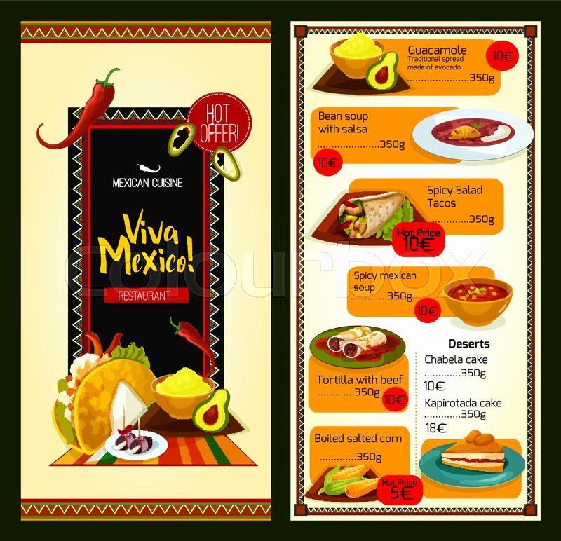 Mexican Restaurant Menu Template Lovely Mexican Cuisine Restaurant Menu Template Special Offer