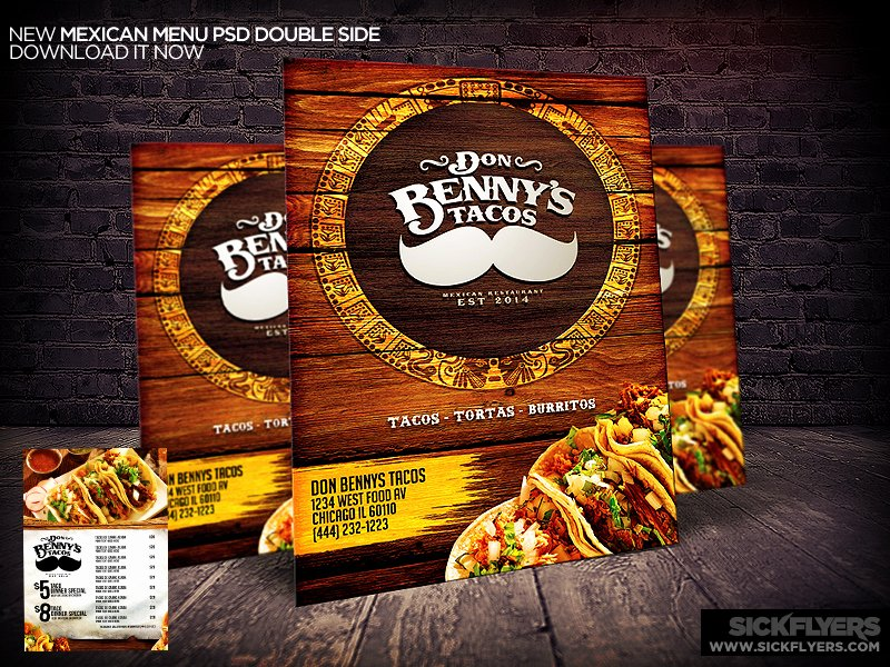 Mexican Restaurant Menu Template Lovely Mexican Restaurant Menu Template Psd by Industrykidz On