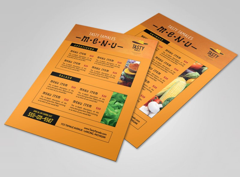 Mexican Restaurant Menu Template Lovely orange Mexican Restaurant Menu Template