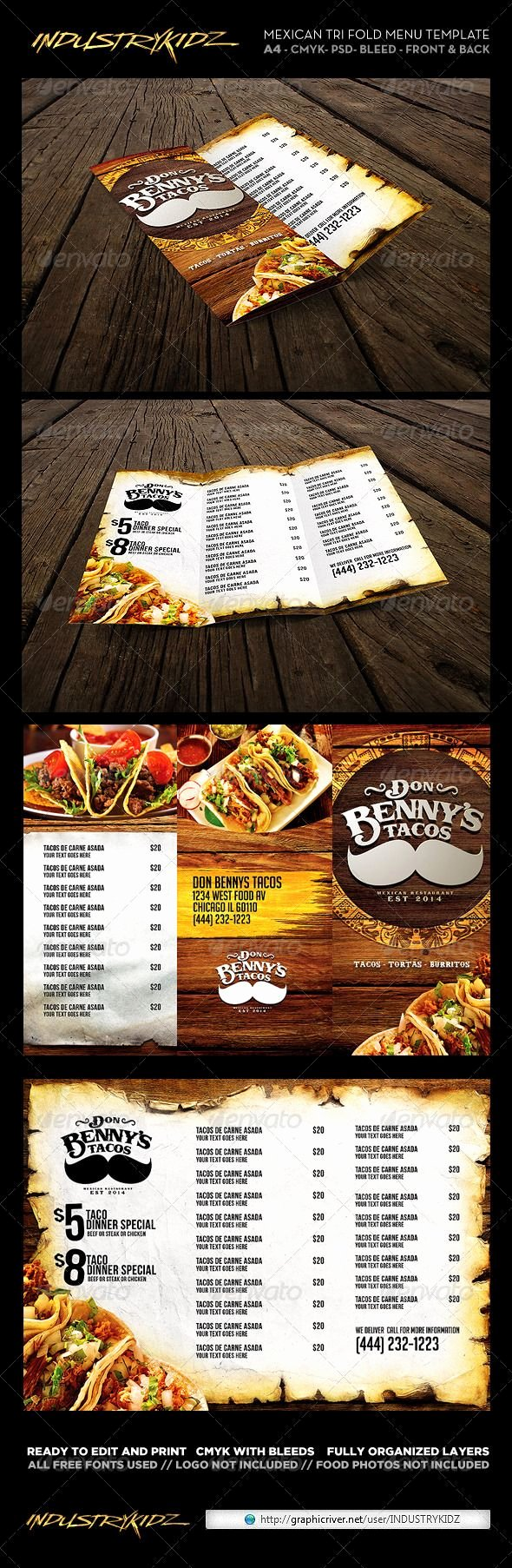 Mexican Restaurant Menu Template Unique 26 Best Mexican Menus Images On Pinterest