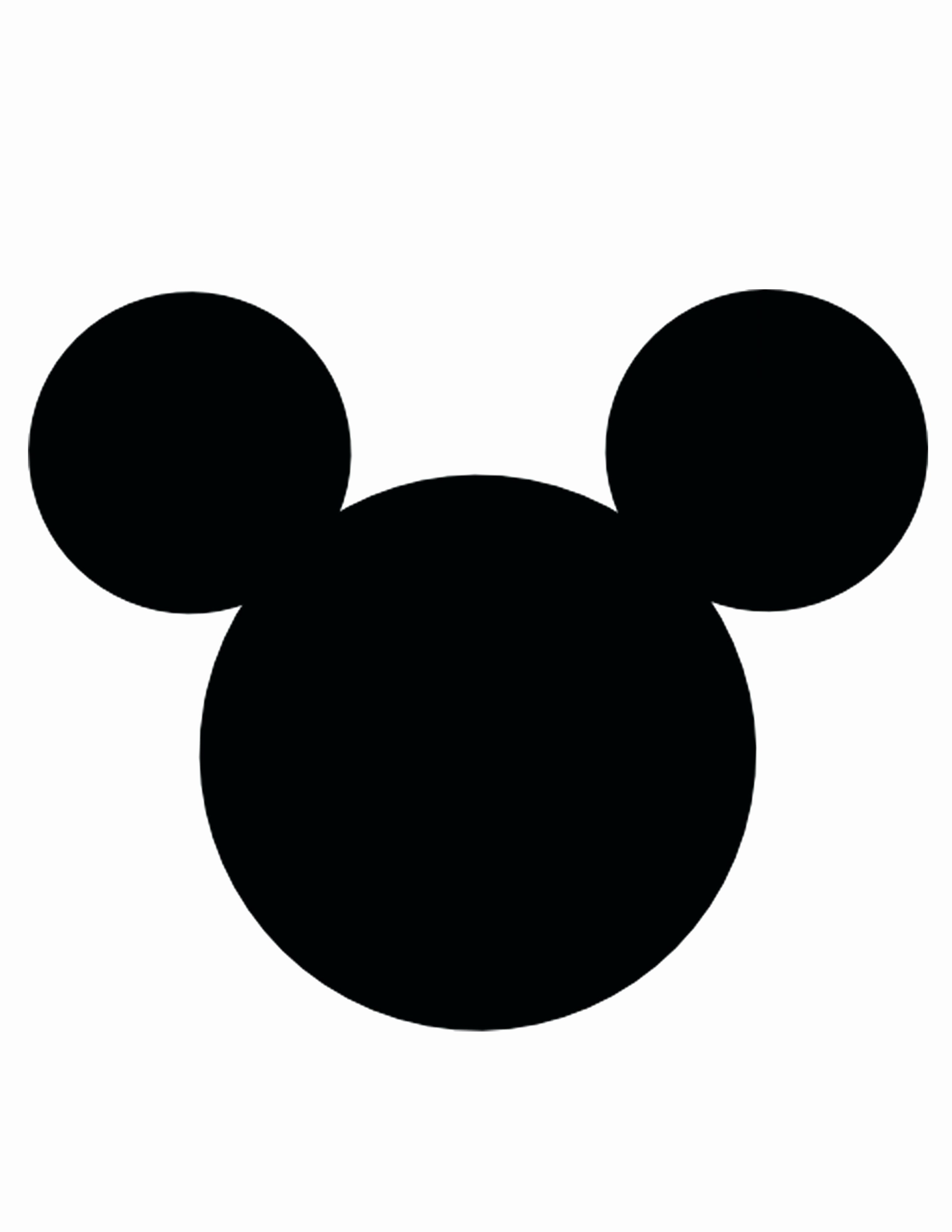 Mickey Mouse Face Template Best Of Mickey Vector