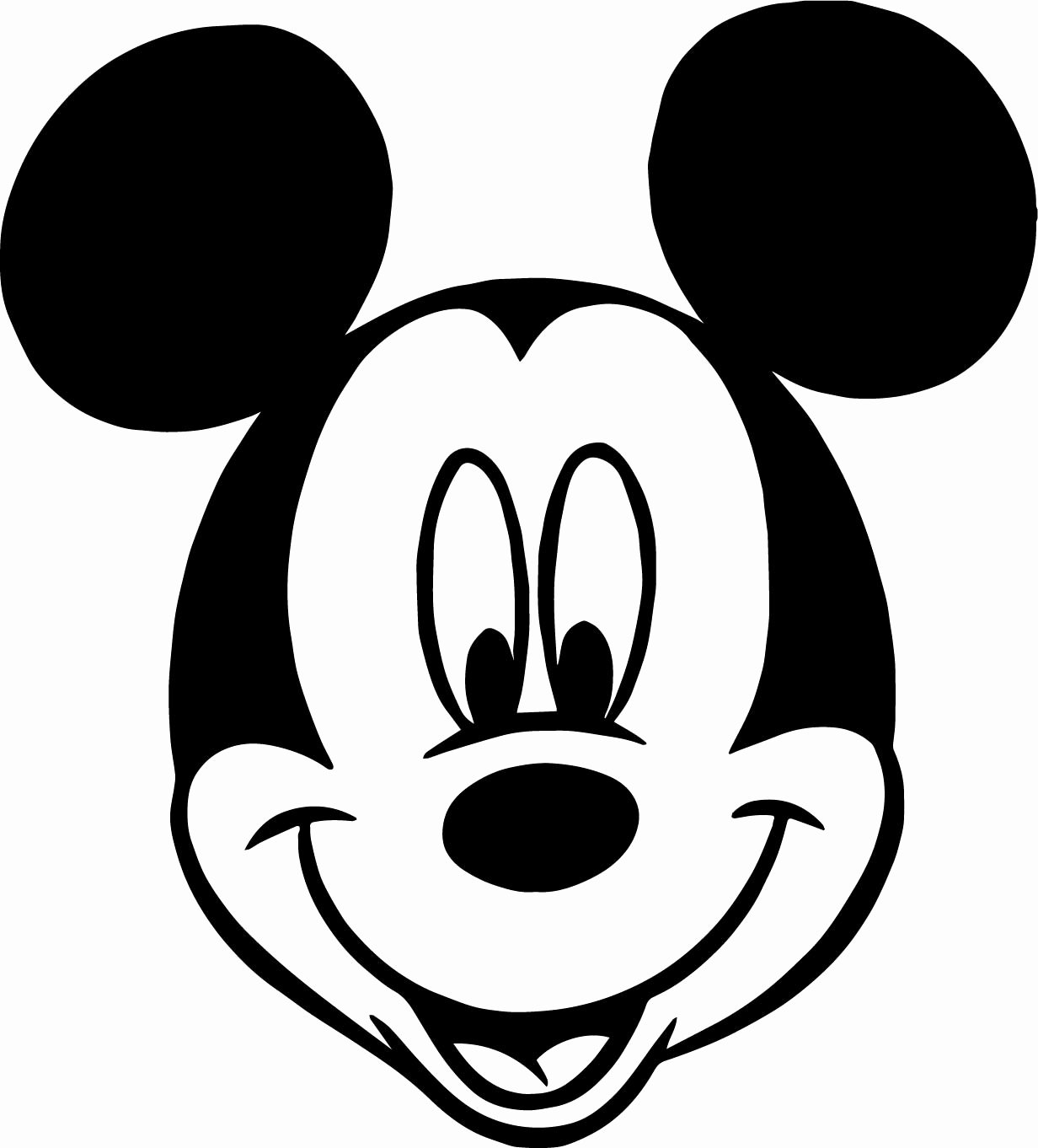 Mickey Mouse Face Template Elegant Mickey Mouse Head Coloring Pages
