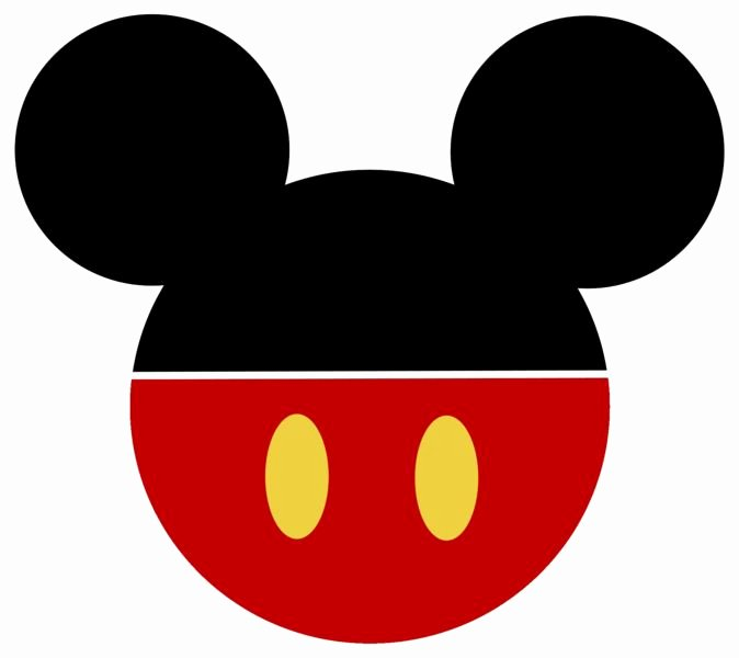 Mickey Mouse Face Template Inspirational Mickey Mouse Face Template Clipart Best