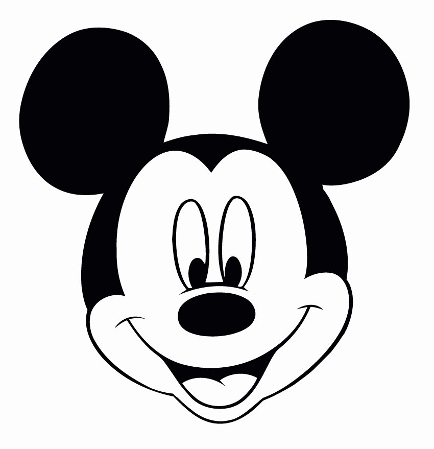 Mickey Mouse Face Template Lovely Perfect Imperfect