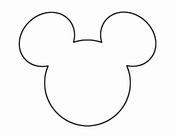 Mickey Mouse Face Template Luxury Mickey Mouse Ears Head Outline Disneyland