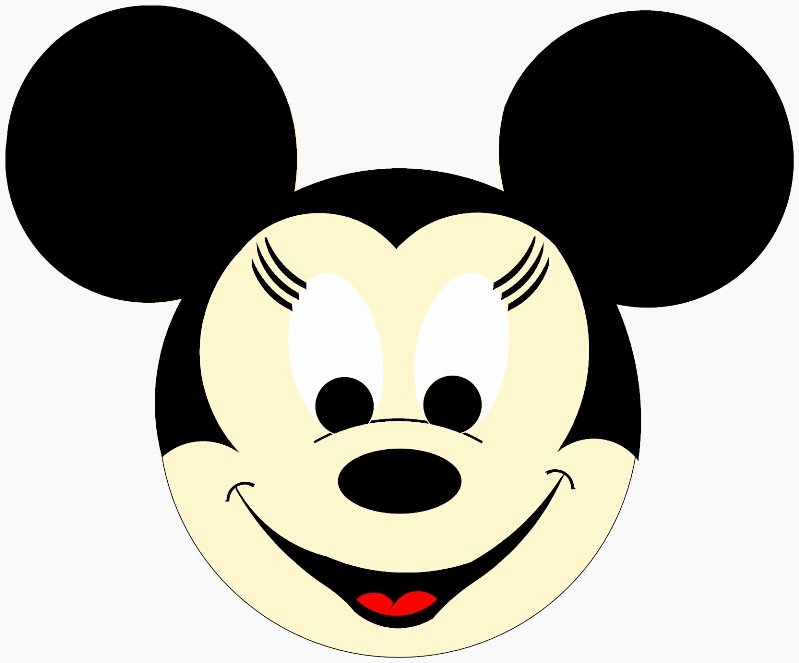 Mickey Mouse Face Template New Mickey Mouse Face Template Cliparts