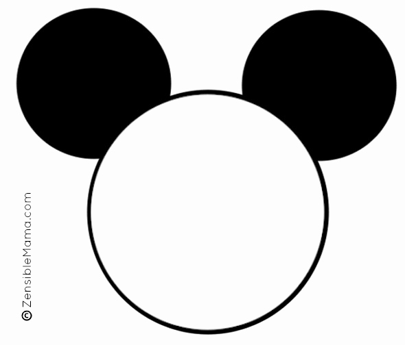 Mickey Mouse Face Template New Mickey Mouse Head Template Printable Google Search