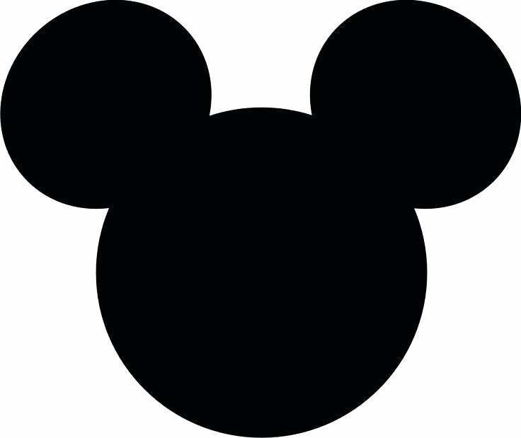 Mickey Mouse Face Template New Mickey Mouse Silhouette at Getdrawings