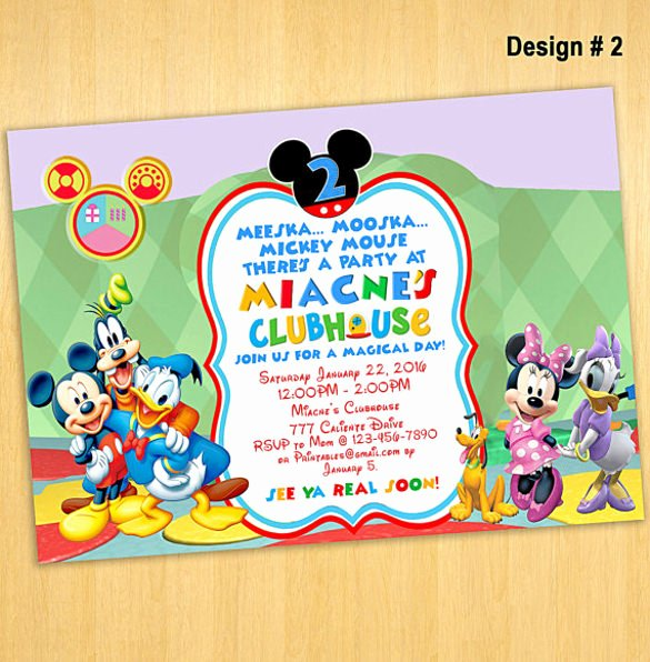 Mickey Mouse Invitation Template Awesome Mickey Mouse Invitation Template Free Download