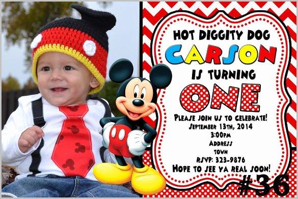 Mickey Mouse Invitation Template Beautiful Mickey Mouse Invitation Templates – 26 Free Psd Vector