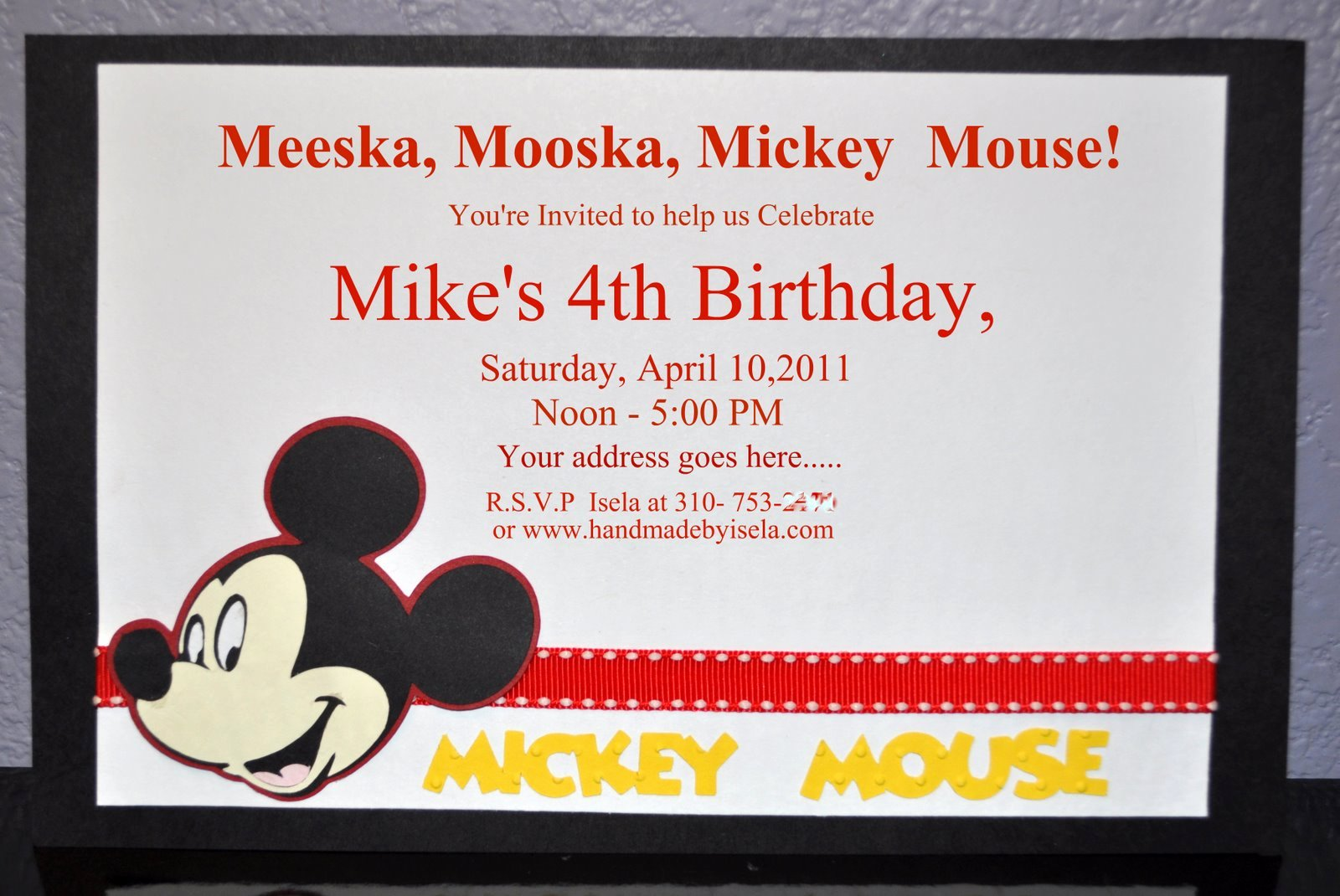 Mickey Mouse Invitation Template Best Of Mickey Mouse Invitation Template Free