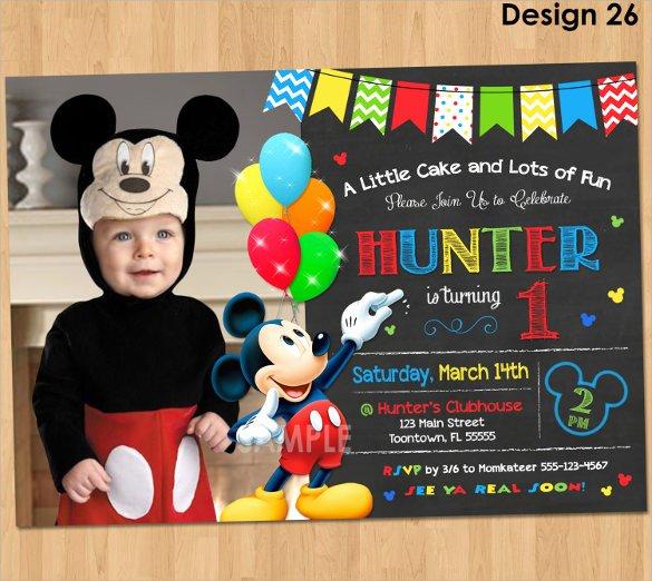 Mickey Mouse Invitation Template Fresh Sample Mickey Mouse Invitation Template 13 Download