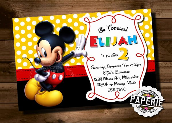 Mickey Mouse Invitation Template Inspirational Mickey Mouse Invitation Template – 23 Free Psd Vector