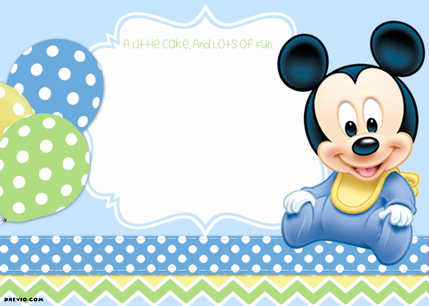 Mickey Mouse Invitation Template New Free Mickey Mouse Clubhouse 1st Birthday Invitations