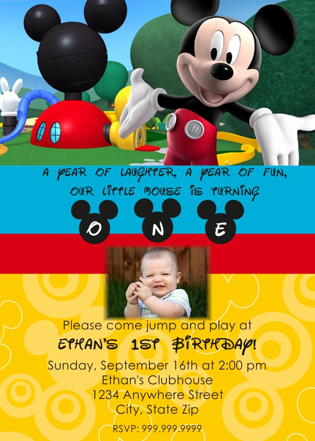 Mickey Mouse Invitation Template New Mickey Mouse Clubhouse Printable Invitations Template