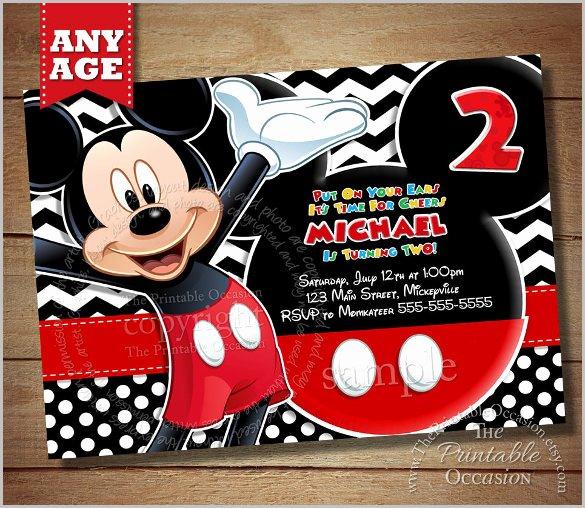 Mickey Mouse Invitation Template Unique Mickey Mouse Invitation Templates – 26 Free Psd Vector