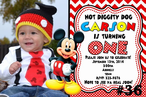 Mickey Mouse Invitations Template Elegant 31 Mickey Mouse Invitation Templates Free Sample