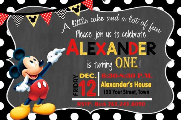 Mickey Mouse Invitations Template Fresh 30 Mickey Mouse Invitation Template