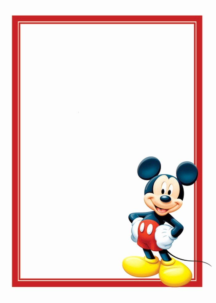 Mickey Mouse Invitations Template Fresh Free Mickey Mouse Invitations Template