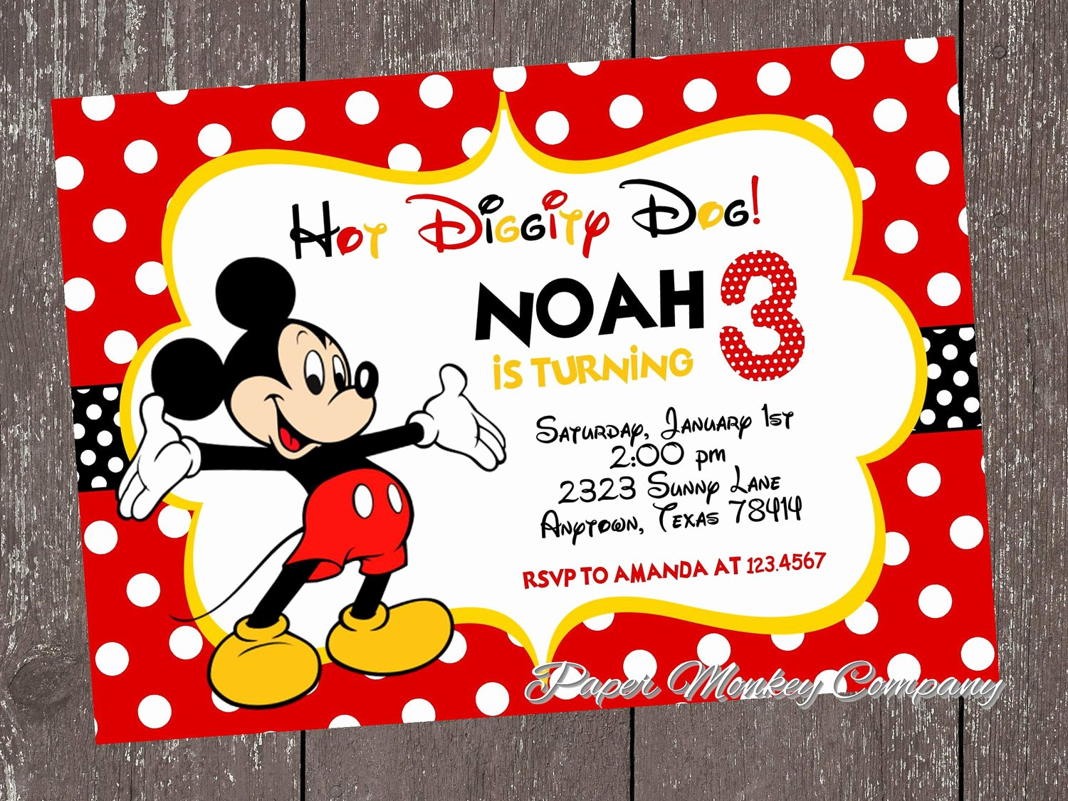 Mickey Mouse Invitations Template Inspirational Mickey Mouse Invitation Template Eyerunforpob
