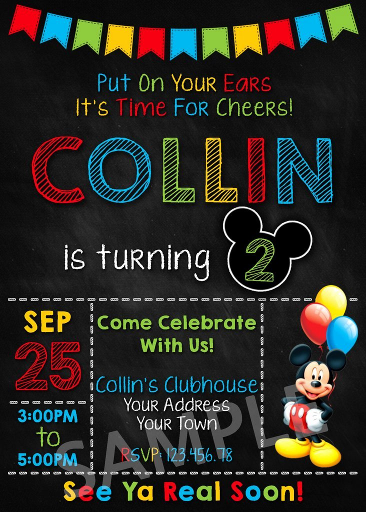 Mickey Mouse Invitations Template Inspirational Mickey Mouse Party Invitation Mickey Mouse Invitation