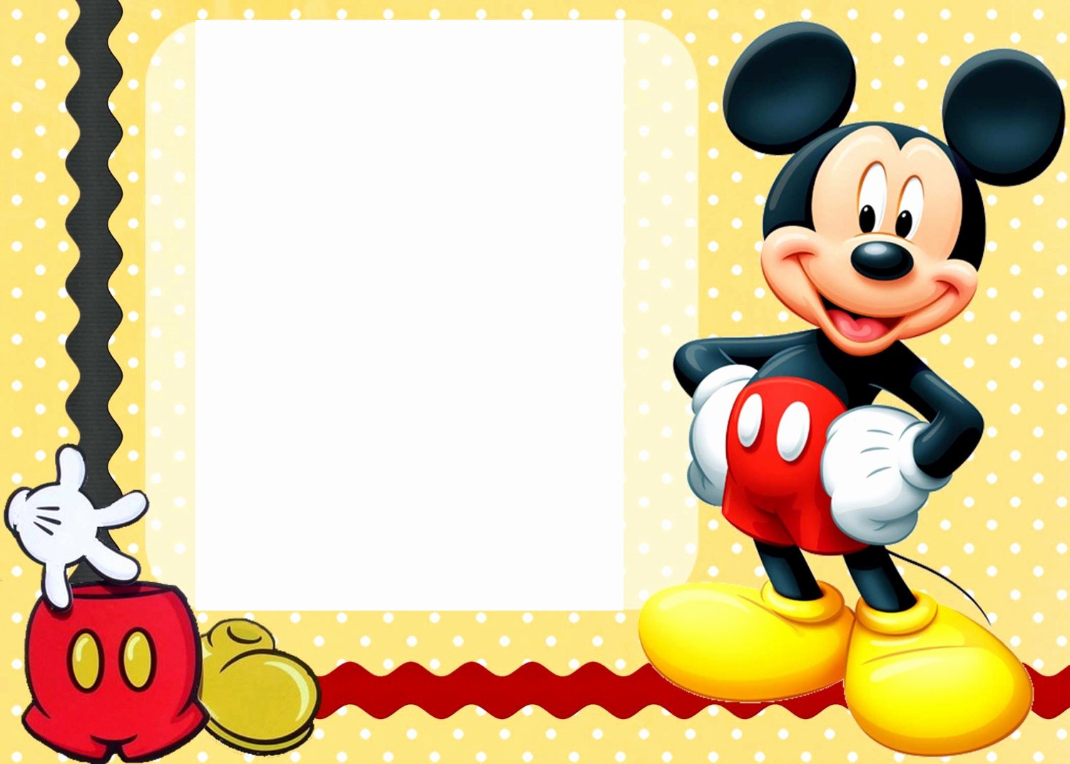 Mickey Mouse Invitations Template Luxury Free Printable Mickey Mouse Birthday Cards