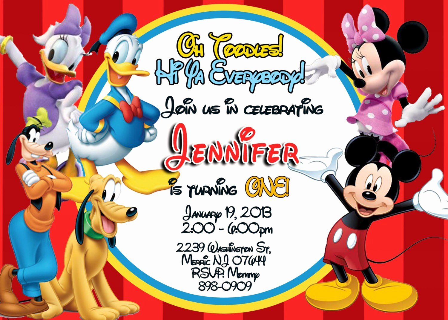 Mickey Mouse Invitations Template New Exclusive Mickey Mouse Clubhouse Birthday Invitations