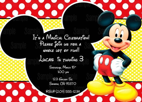 Mickey Mouse Invitations Template New Printable Mickey Mouse Invitation Plus Free Blank Matching