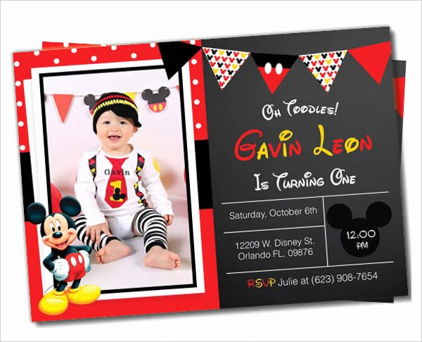 Mickey Mouse Invitations Template Unique Mickey Mouse Invitation Templates – 26 Free Psd Vector