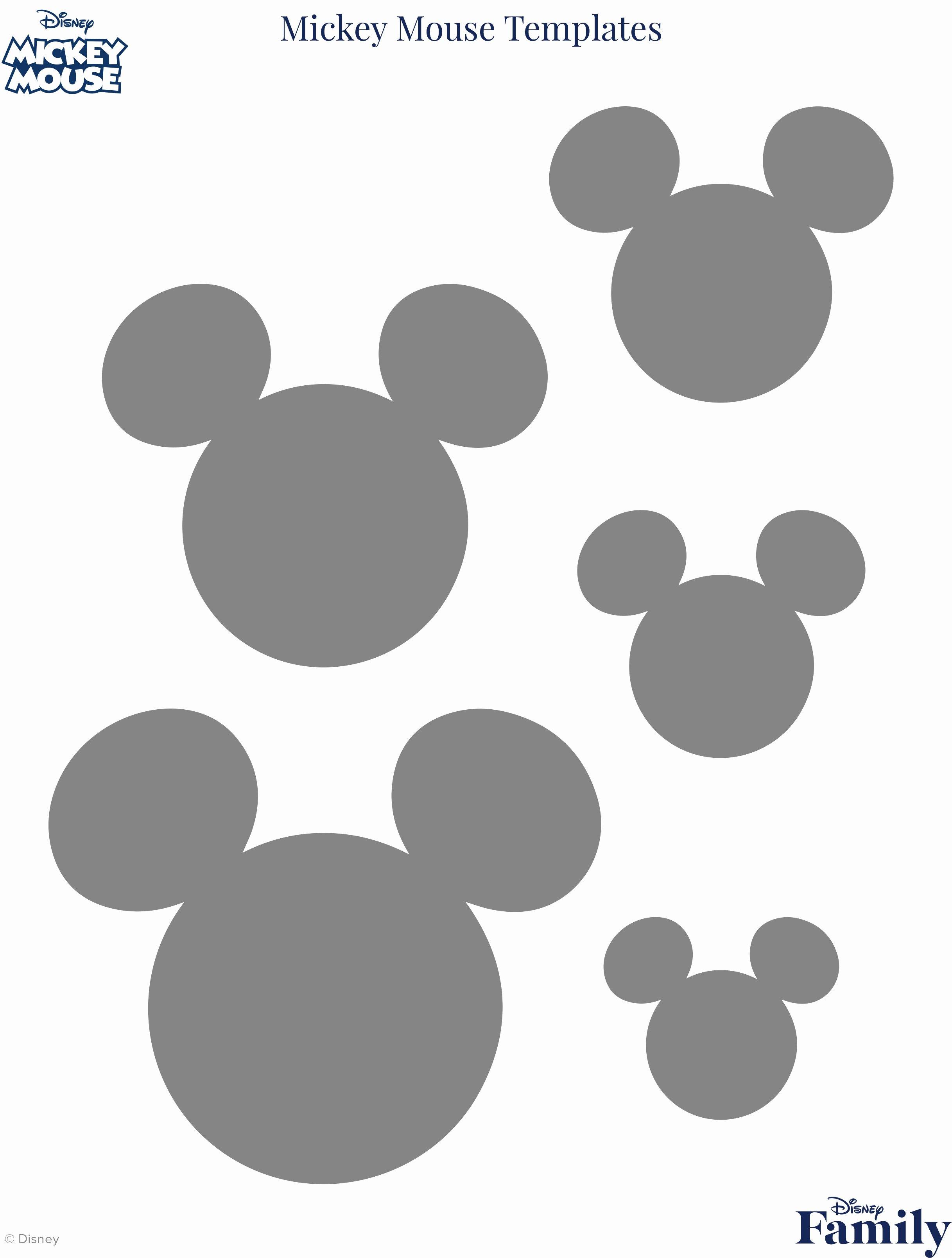 Mickey Mouse Template Free Inspirational Mickey Mouse Template