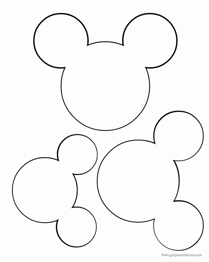 Mickey Mouse Template Free Inspirational Printable Mickey Mouse Ears Template Google Search