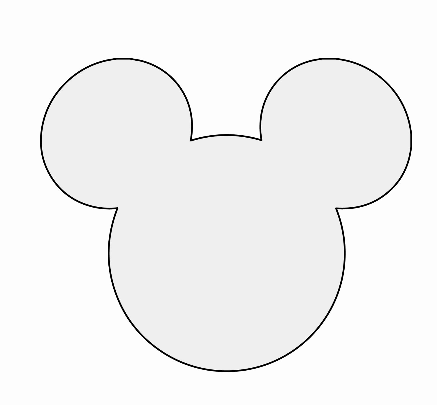 Mickey Mouse Template Free Luxury 5 H String Art Mickey Mouse Pattern Template