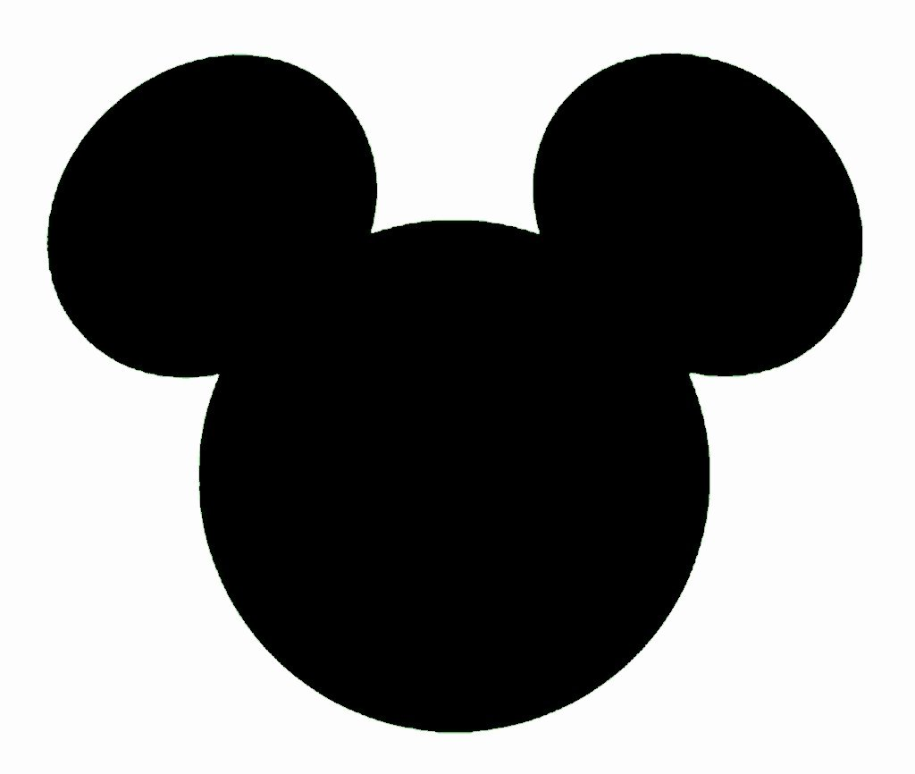 Mickey Mouse Template Free Unique Mickey Mouse Outline Clipart Clipart Suggest