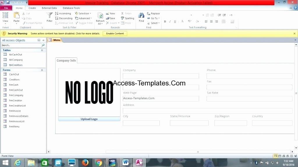 Microsoft Access 2007 Template Inspirational Microsoft Access 2007 Templates – Mixmix