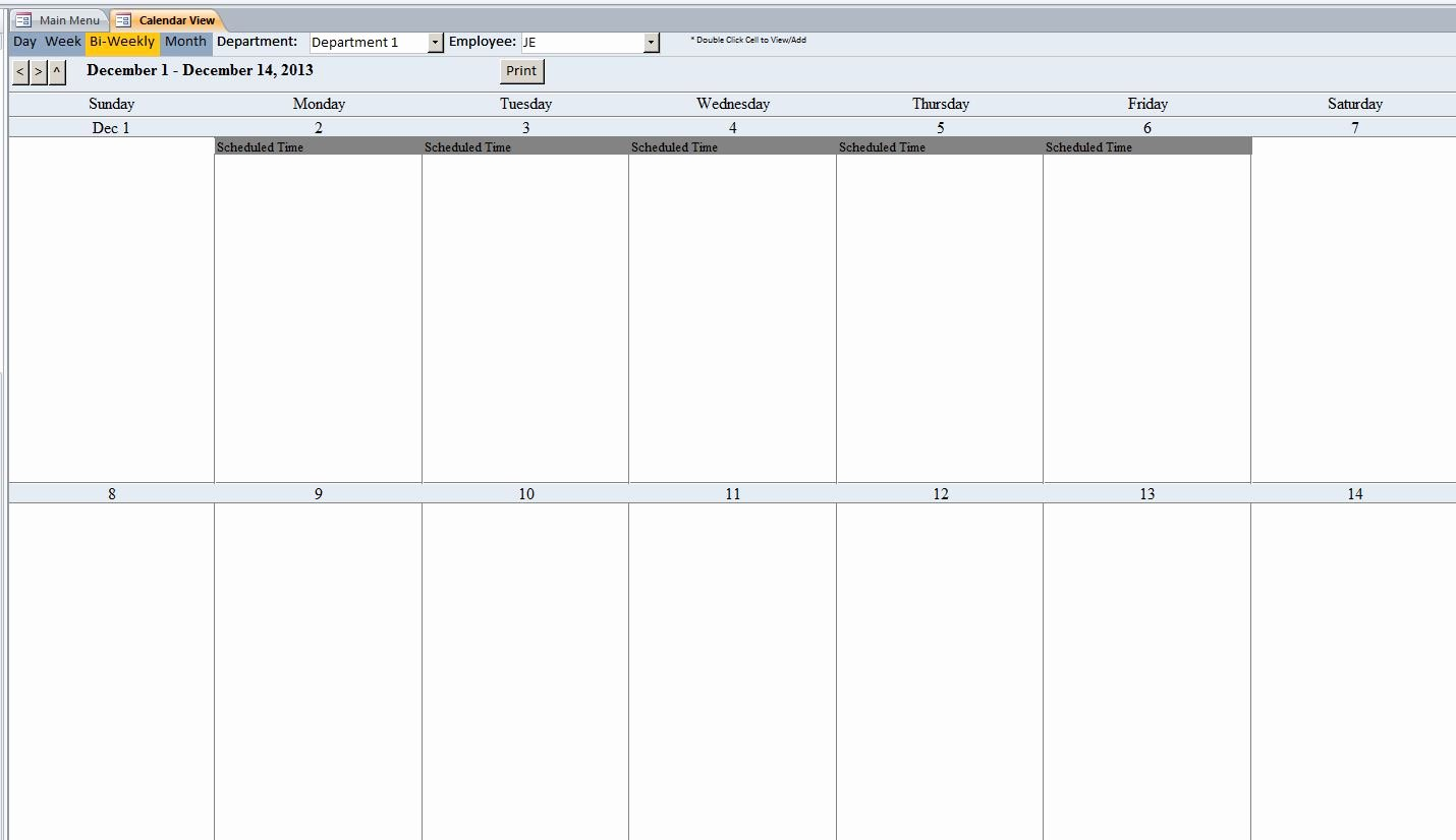Microsoft Access Calendar Template Elegant Microsoft Access Production Scheduling Database Template