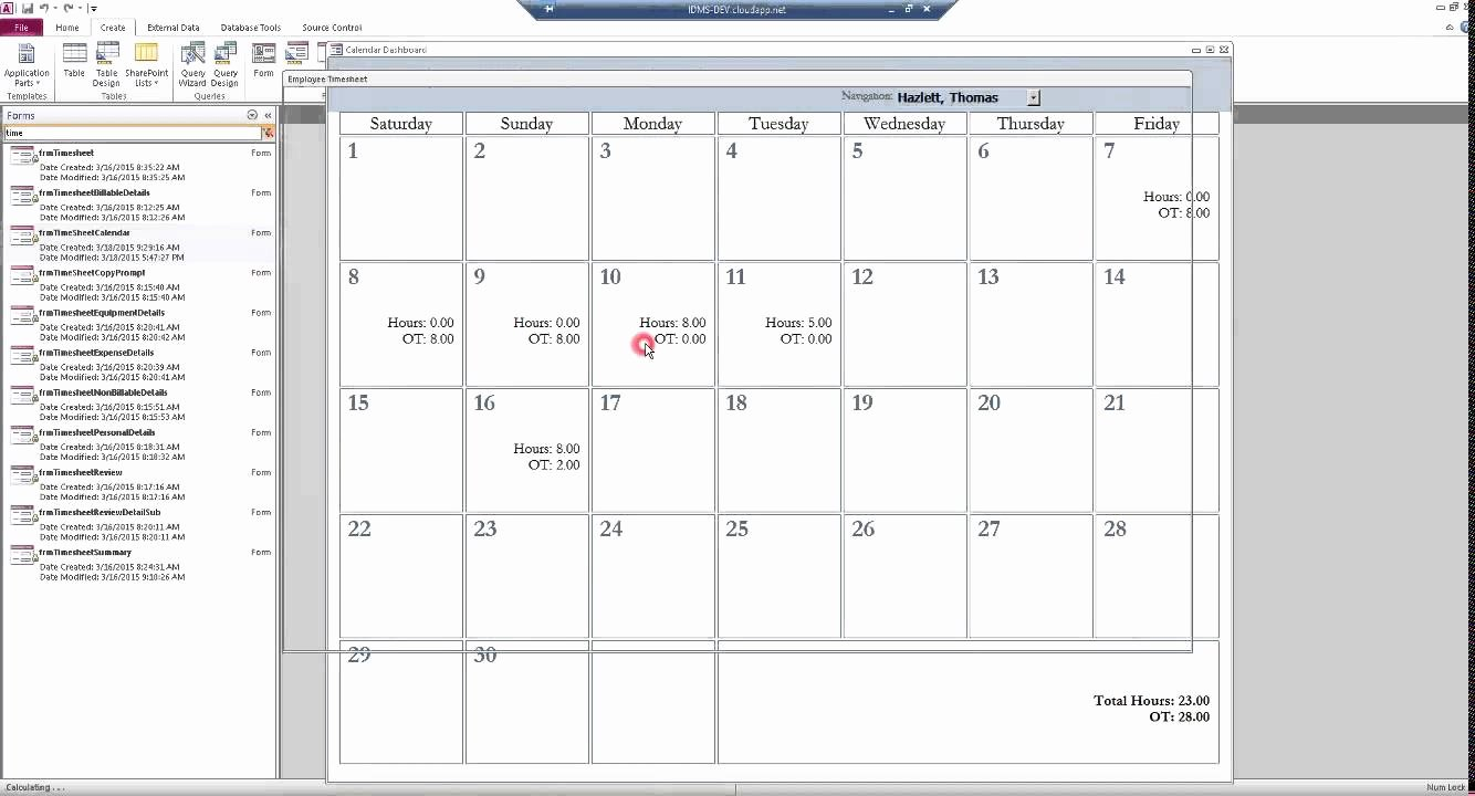 Microsoft Access Calendar Template Lovely Ms Access Calendar form Template Templates Station