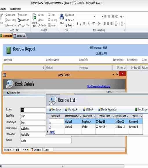 Microsoft Access Calendar Template Luxury Access Database Templates