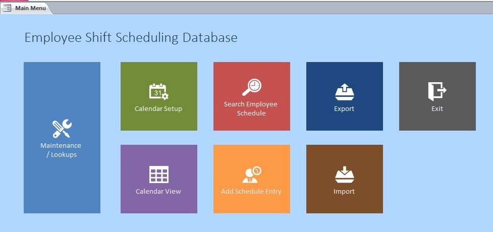 Microsoft Access form Template Best Of Employee Scheduling Database Template