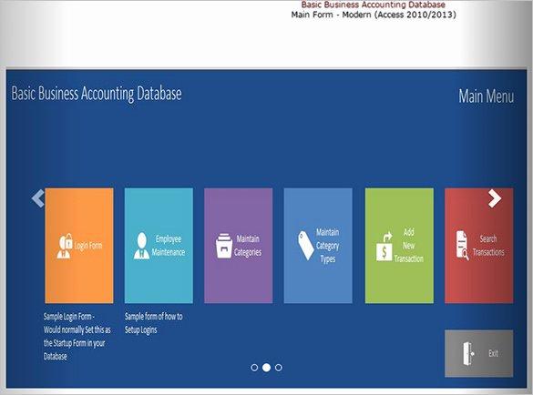 microsoft access template