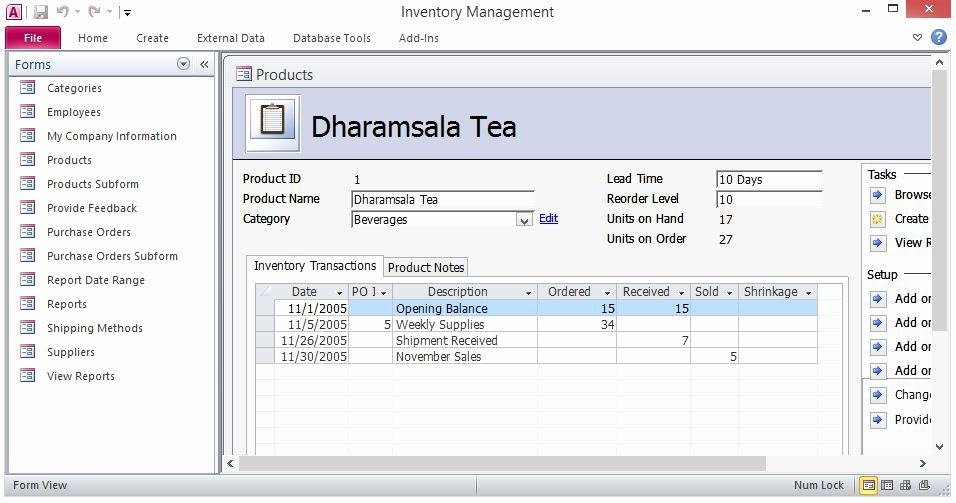 Microsoft Access Inventory Template Inspirational Free Inventory Control forms Template for Microsoft Access