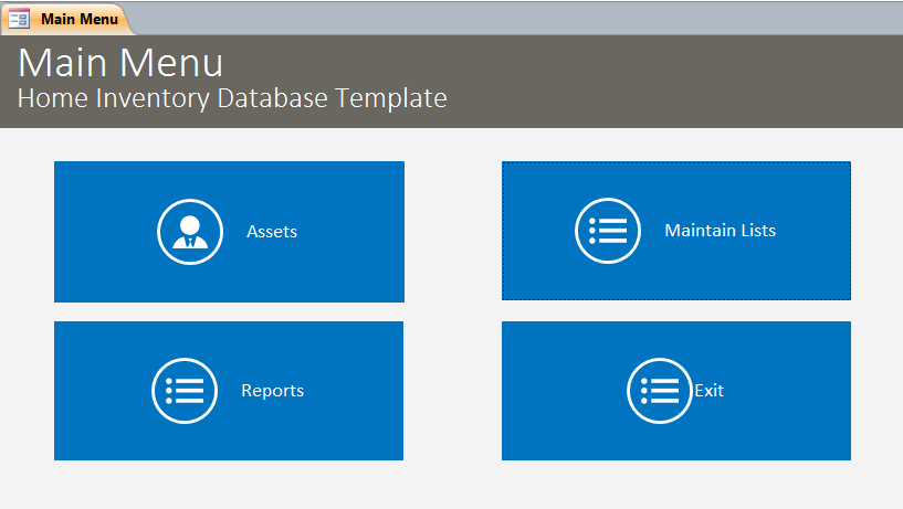 Microsoft Access Inventory Template Inspirational Home Inventory Database