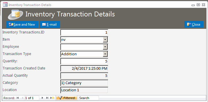 Microsoft Access Inventory Template Unique Inventory Database Template