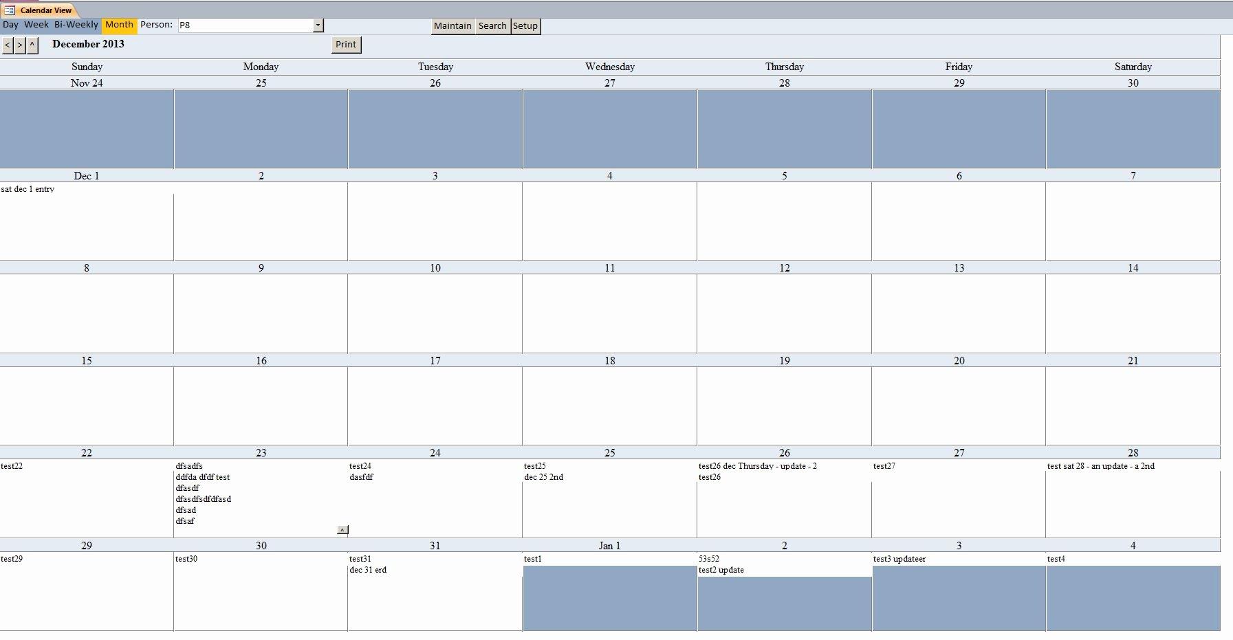 Microsoft Access Scheduler Template Beautiful Basic Microsoft Access Calendar Scheduling Database Template