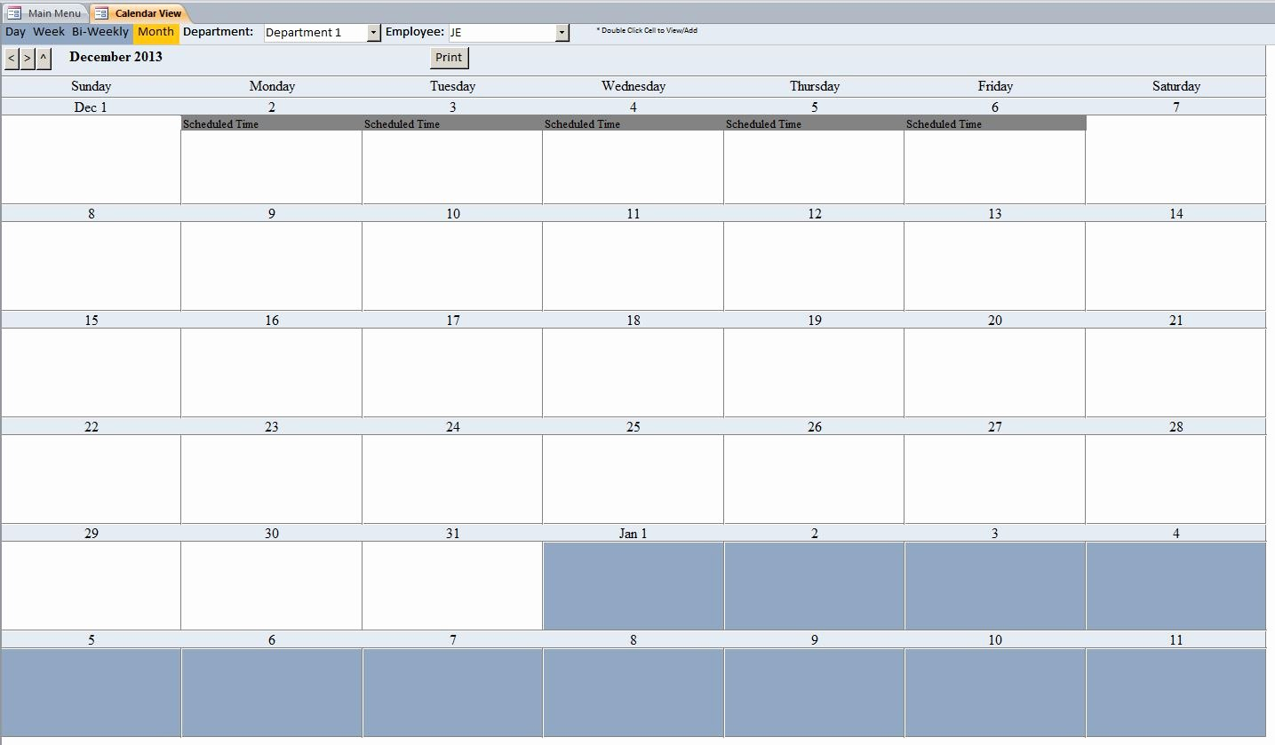 Microsoft Access Scheduler Template Elegant Consultant Scheduling Database Template