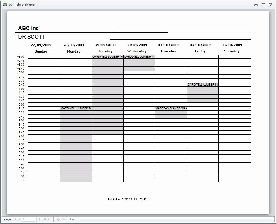 Microsoft Access Scheduler Template Lovely Schedule Msaccess Programsdownload Free software Programs