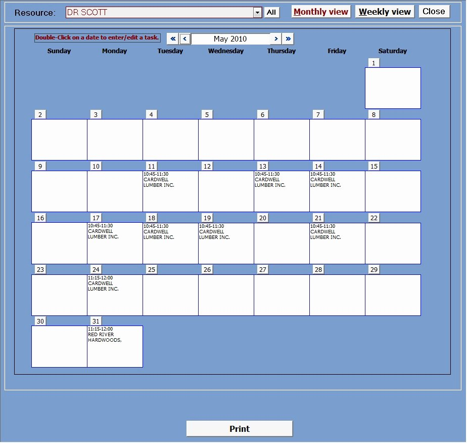 Microsoft Access Scheduler Template Unique Appointment Planner with Image Manager Ms Access Templates