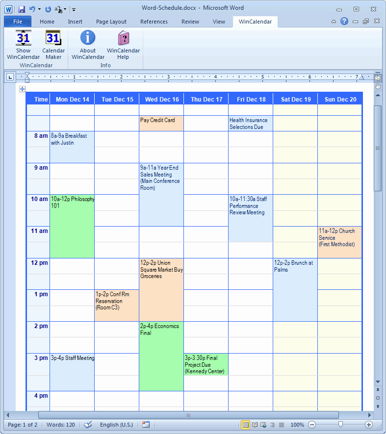Microsoft Access Scheduling Template Best Of Calendar Creator for Microsoft Word with Holidays