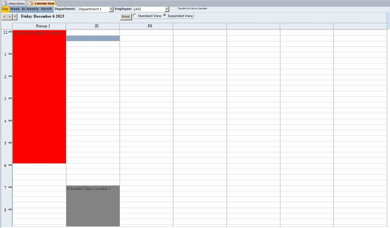 Microsoft Access Scheduling Template Best Of Microsoft Access Employee Scheduling Database Template